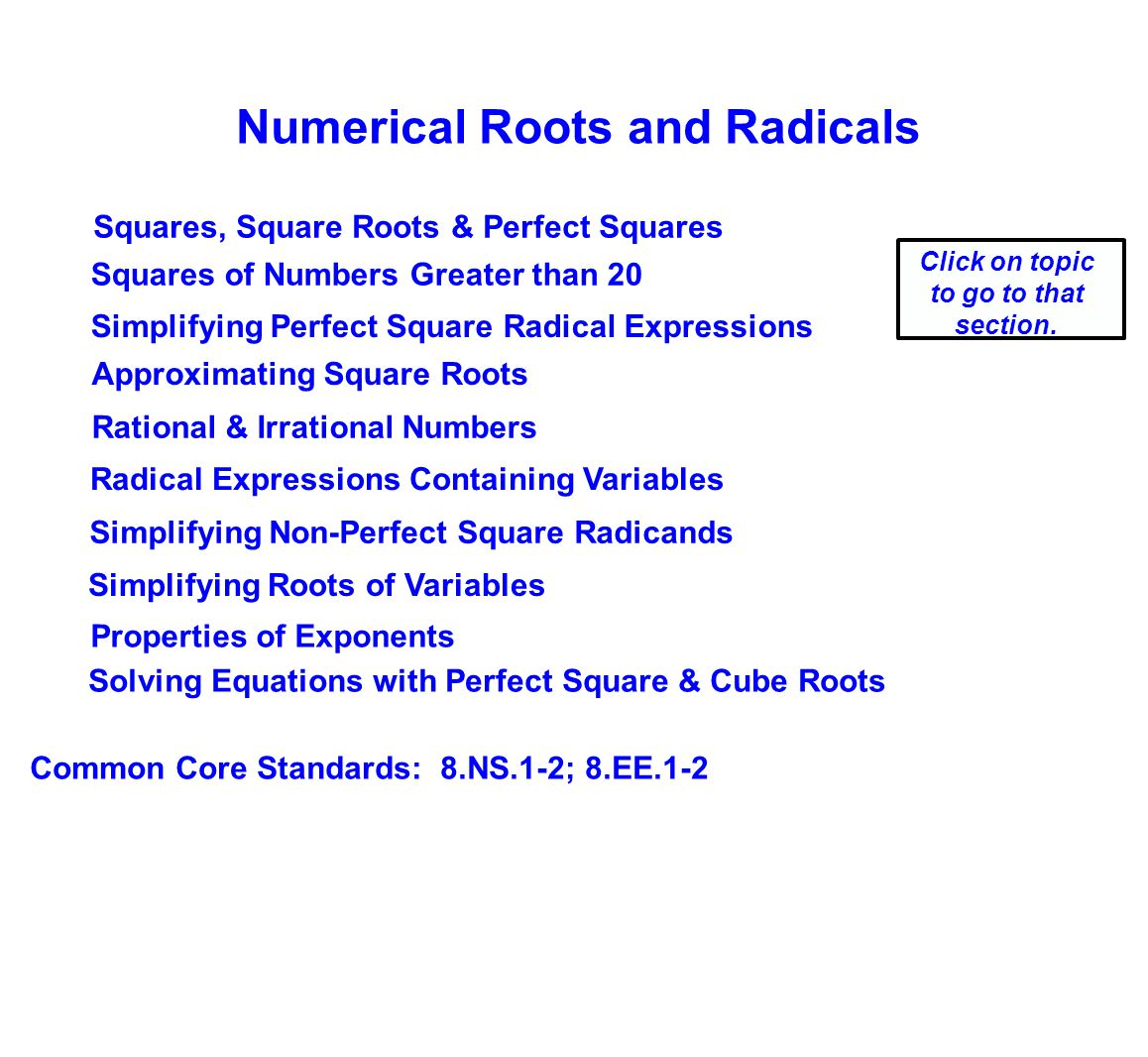 Numerical Roots & Radicals - ppt download