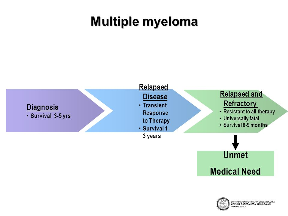 Multiple myeloma Unmet Medical Need Relapsed Disease