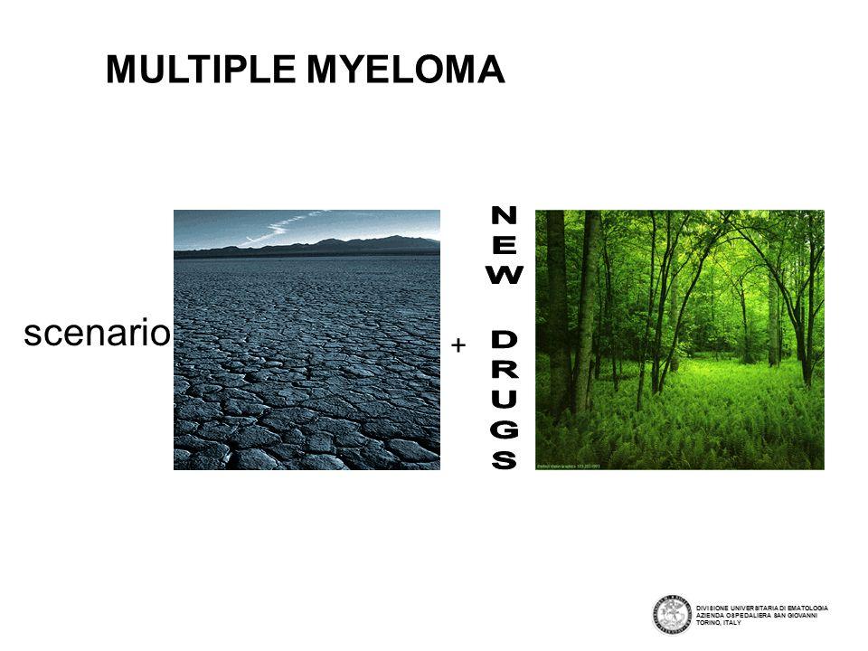 MULTIPLE MYELOMA scenario NEW DRUGS +