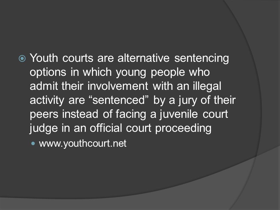 alternate sentencing options According to the pennsylvania department of corrections, alternative sentences  and conditional dispositions (where charges are dropped after.