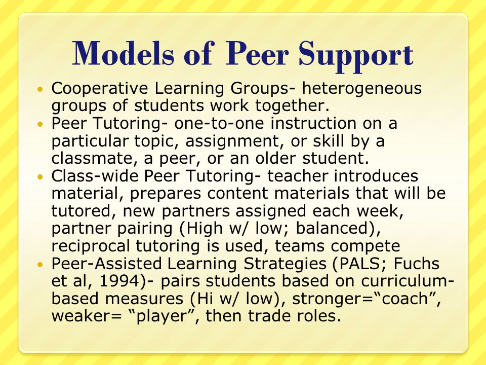 peer assisted learning strategies pdf