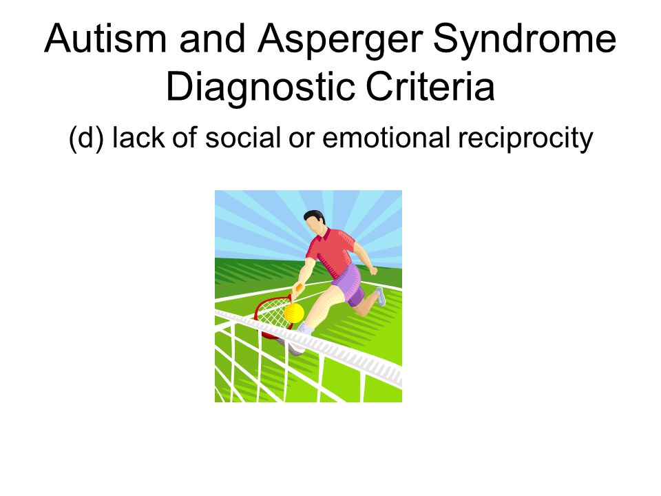 Asperger syndrom diagnostic criteria adults