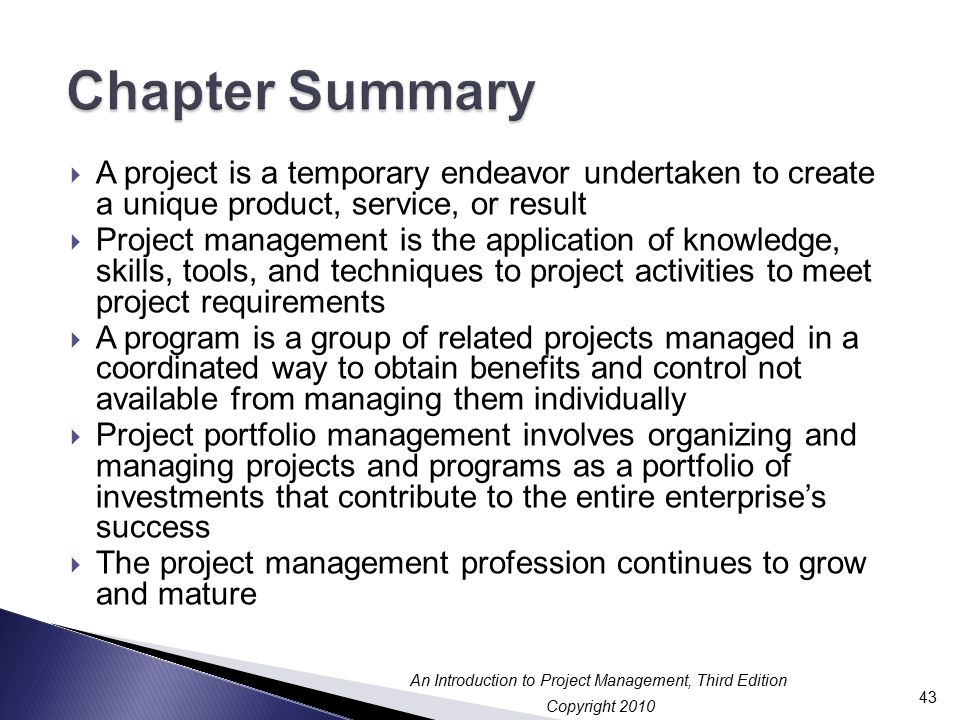 Chapter 1 an introduction to project program and for Life of pi chapter summary