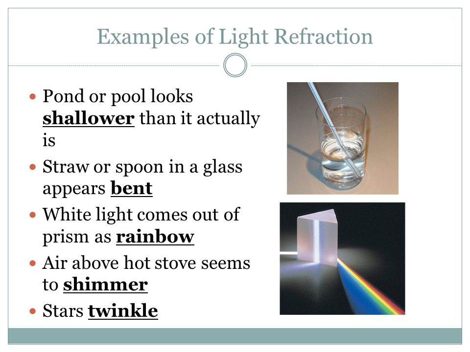 refraction of light light changes direction bends as it