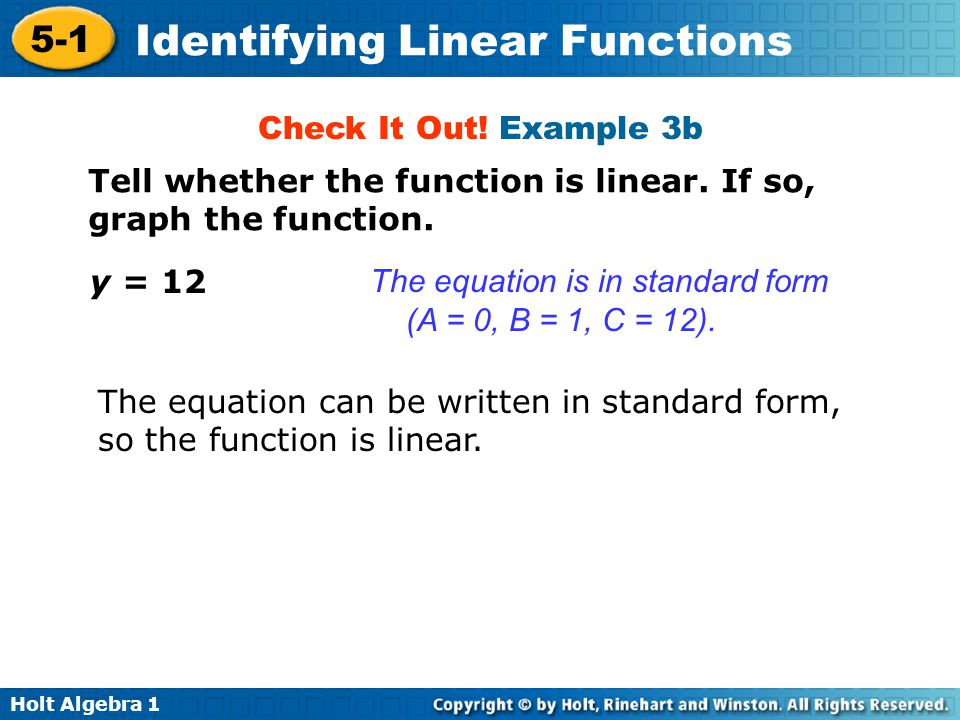 can a linear equation and a Linear differential equations a first-order linear differential equation is one that can be put into the form where and are continuous functions on a given interval.