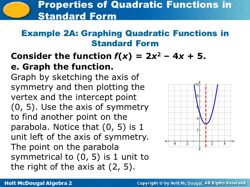 Give the coordinate of the vertex of each function ppt download – Graphing Quadratic Functions in Standard Form Worksheet