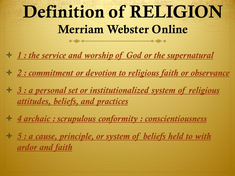 private faith public life ppt  definition of religion merriam webster online