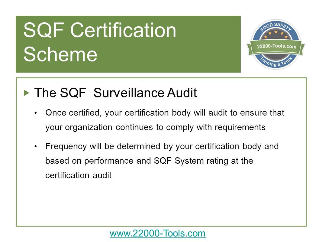 Introduction to sqf certification use notes view in powerpoint sqf certification scheme 1betcityfo Gallery