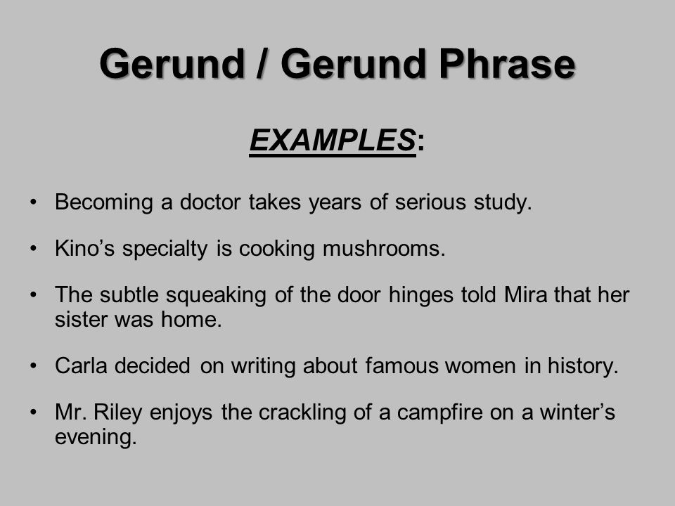 Verbals Gerund Participle Infinitive ppt video online download – Gerunds and Gerund Phrases Worksheet