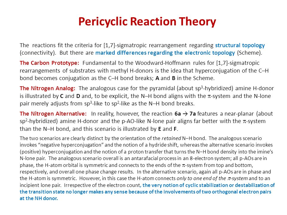 Pericyclic Reaction Theory