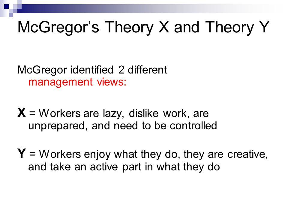 theory x and theory y pdf
