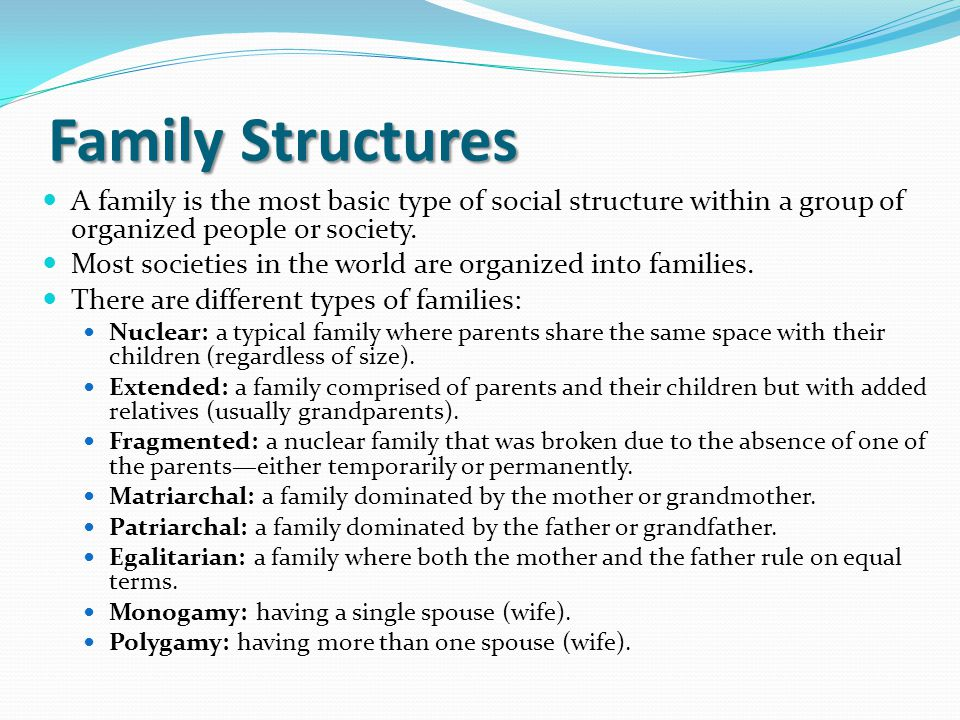 Types of Family Structures