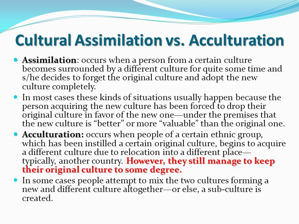 Rethinking the Concept of Acculturation