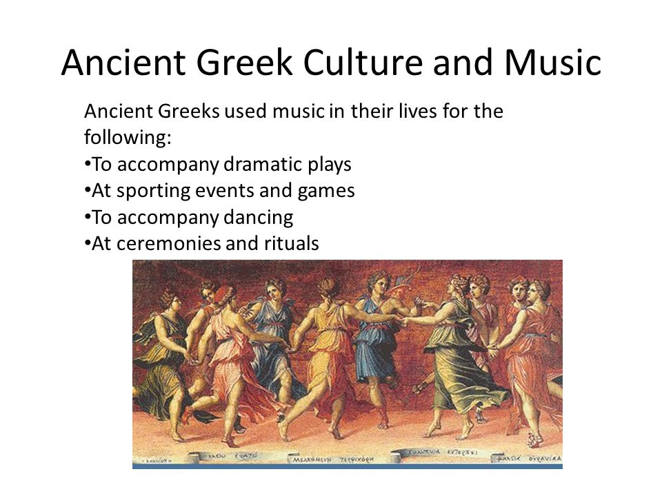 "the place of music in the lives of the ancient greeks Ancient greek philosophy  how it is that this separation took place is unclear,  implying that none of the greeks could appropriately be called ""human."