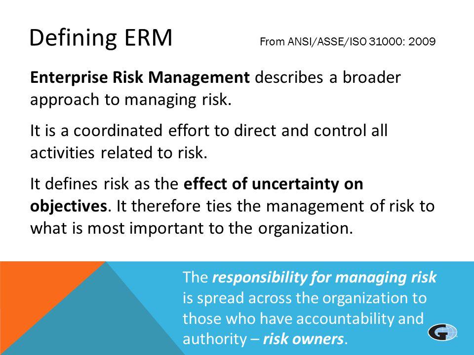 enterprise risk management maturity by sector