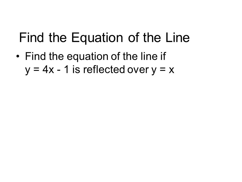 how to find the equation of the line of reflection