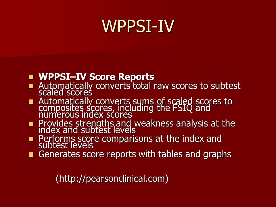 The Wechsler Intelligence Scales - ppt download