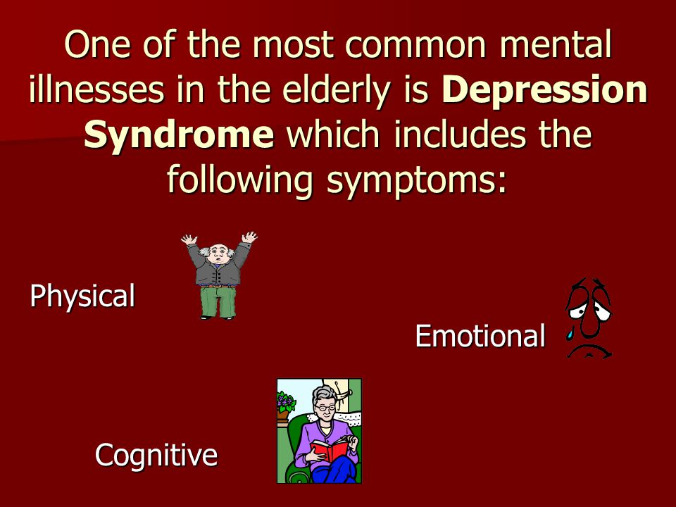 the symptoms associated with elderly depression And associated factors among institutionalized elderly determining the prevalence of depressive symptoms and associated tutionalized elderly, depression.