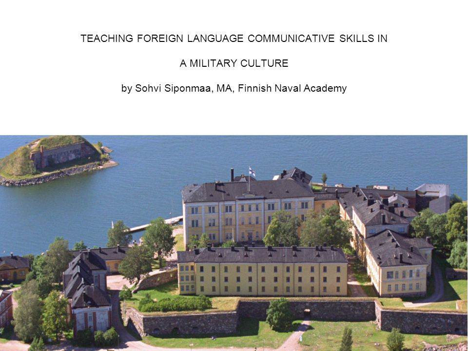 teaching foreign language communicative skills in a military, Presentation templates