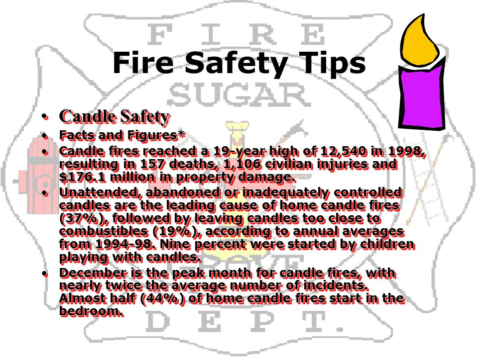 Sugar grove fire department for united airlines ppt for Home safety facts