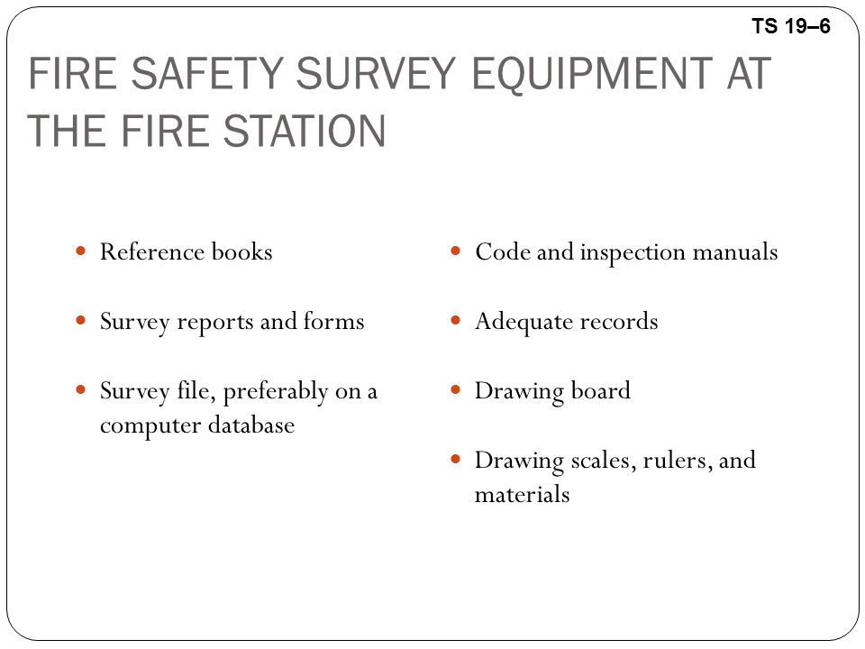 Fire prevention and public education ppt download fire safety survey equipment at the fire station fandeluxe Gallery
