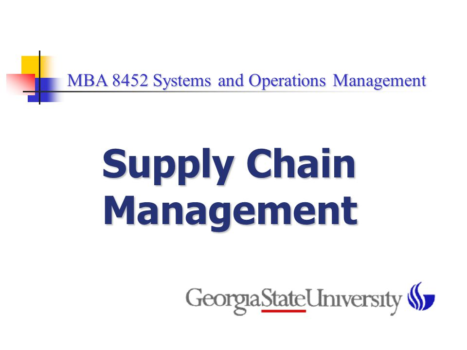introduction to supply chain management system Quality management and supply chain management integration: a conceptual model introduction quality has become quality management and supply chain management.