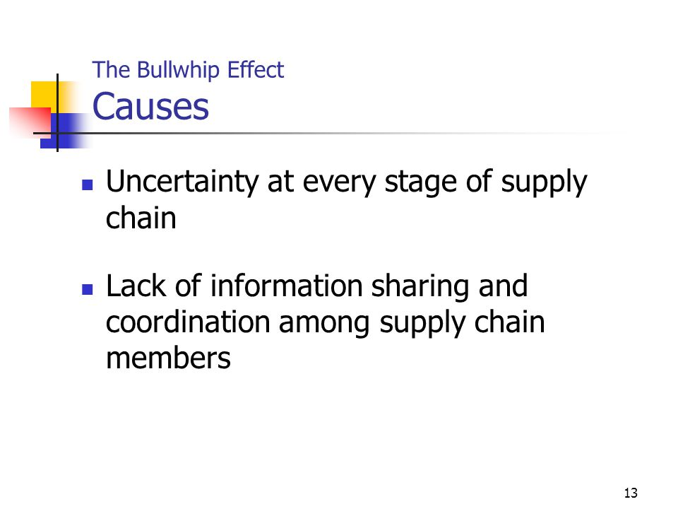 The Bullwhip Effect Causes