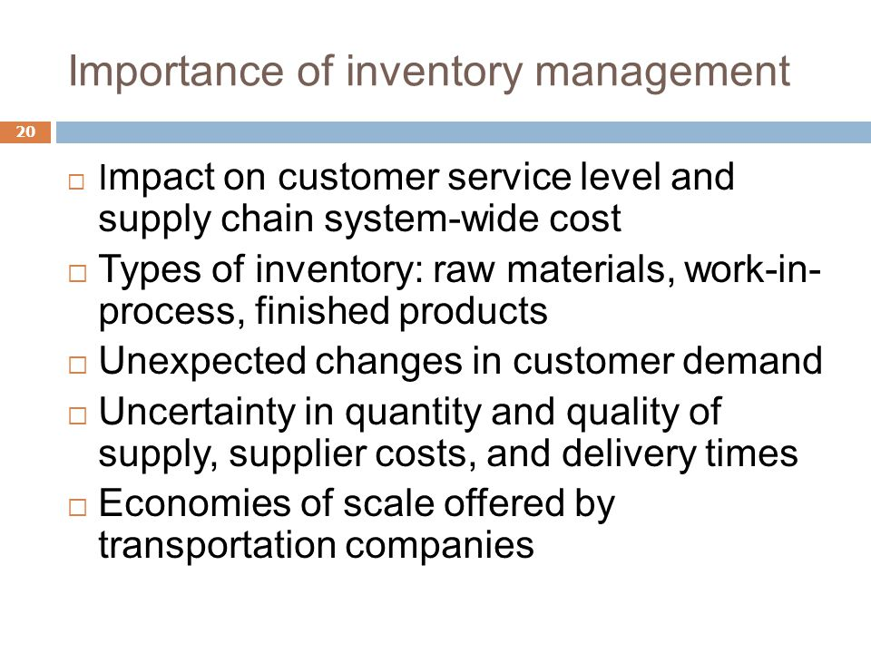 factors affecting supply chain management Supply chain management (scm) represents a significant change in the way that organizations view themselves and has witnessed values created through the integration and coordination of supply, demand and relationships in order to satisfy customers in an effective and profitable.