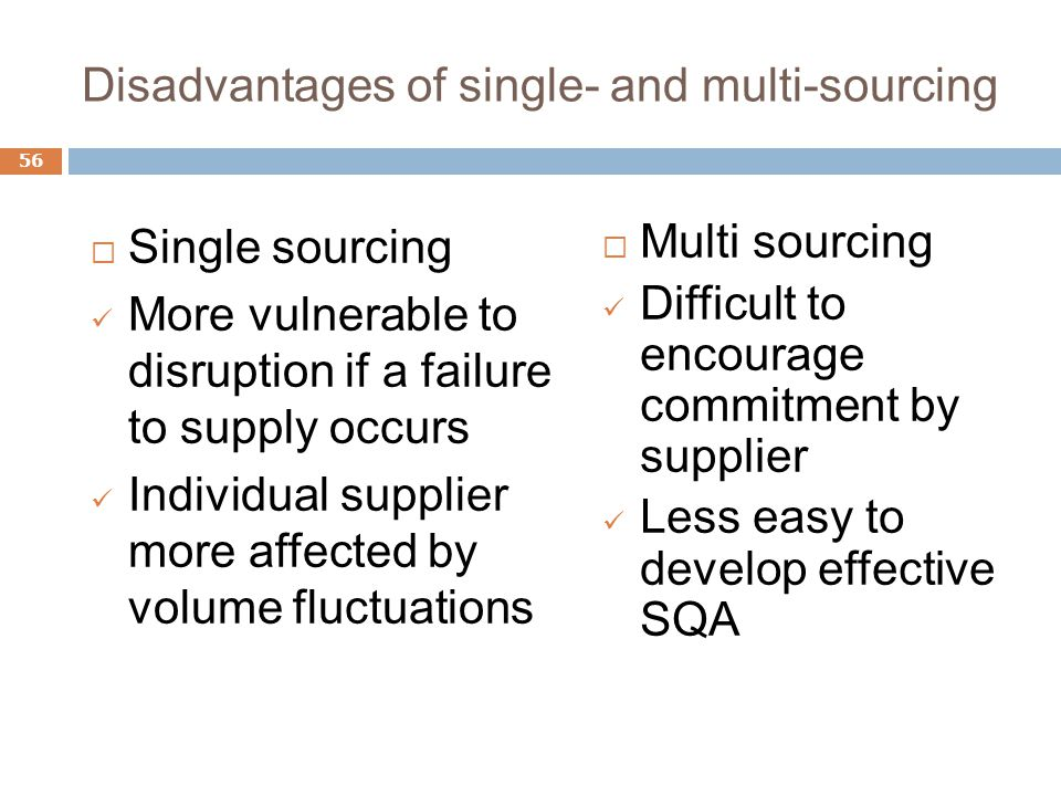 what are the advantages and or disadvantages of global sourcing Implementing a successful global sourcing initiative can be one of the supply   the advantages, and major disadvantages of using an overseas sourcing.