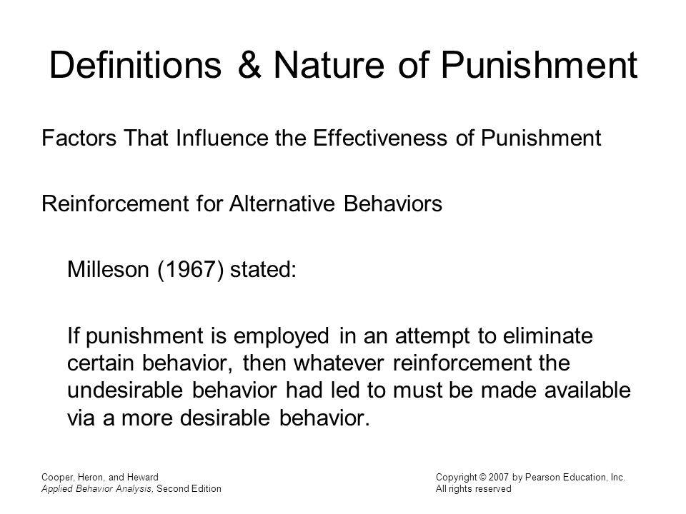 An analysis of punishment
