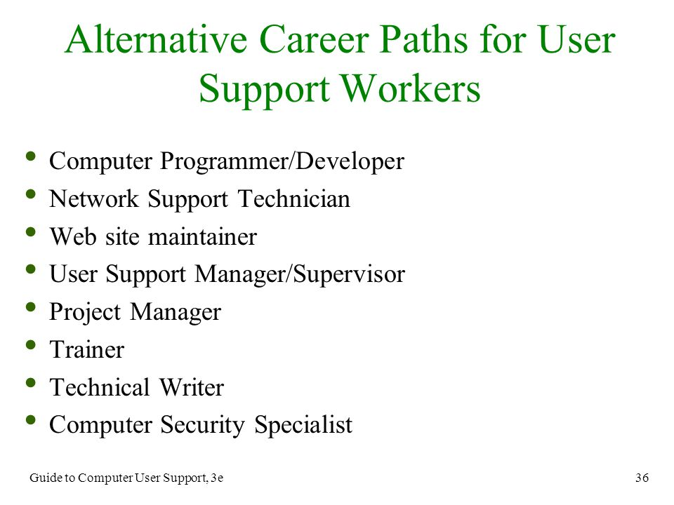 an introduction to the career path of a network support specialists Career pathways: breaking into the business of  introduction to regulatory affairs and compliance for drugs, biologics, and  describe my career path in medical .