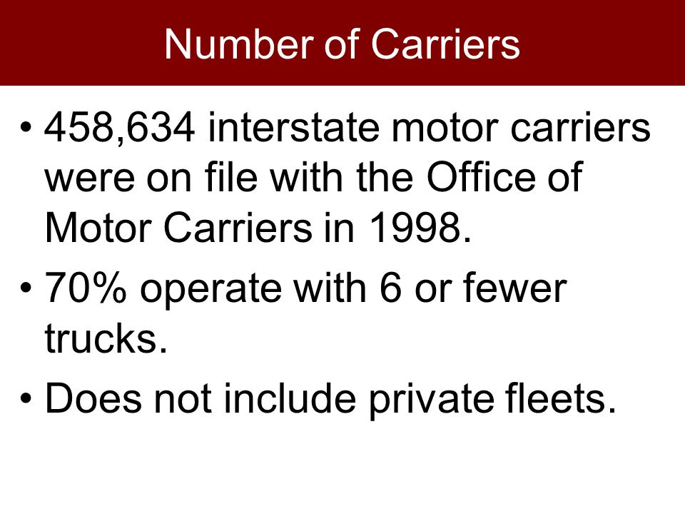 Motor carrier act of 1935 for How to obtain a motor carrier number