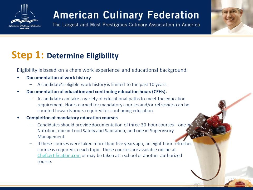 12 step - Sous Chef Education Requirements