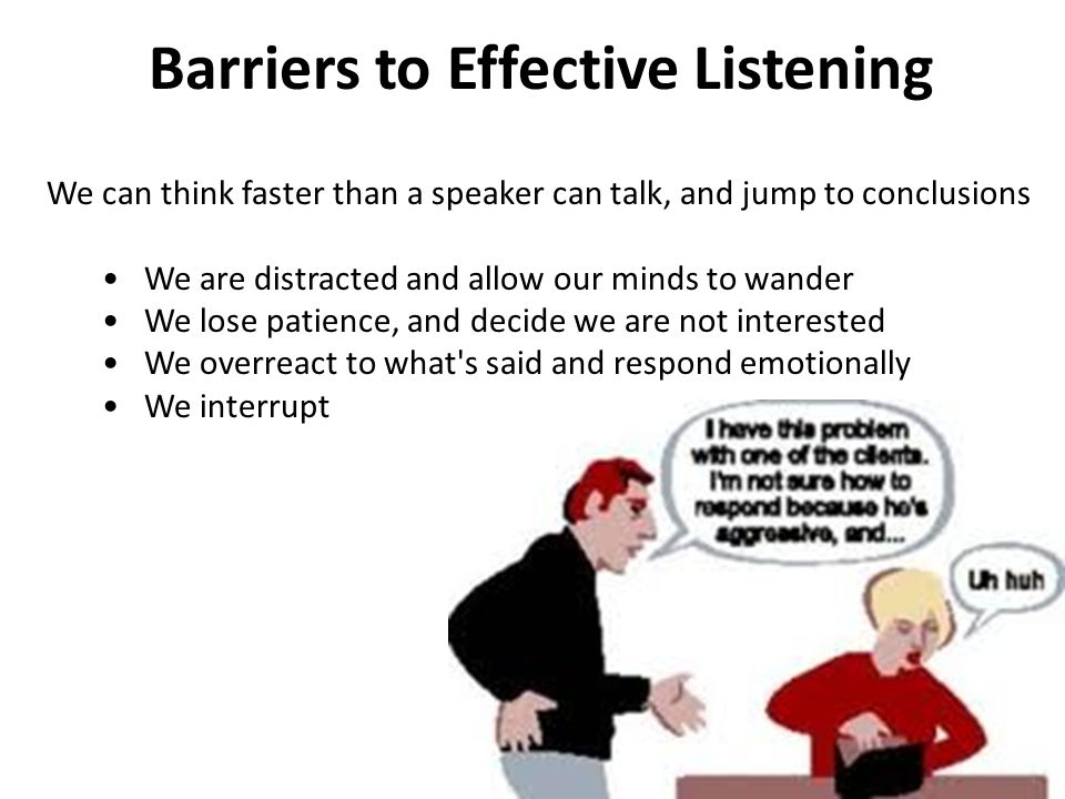 essay on listening barriers Essays - largest database of quality sample essays and research papers on barriers to listening.