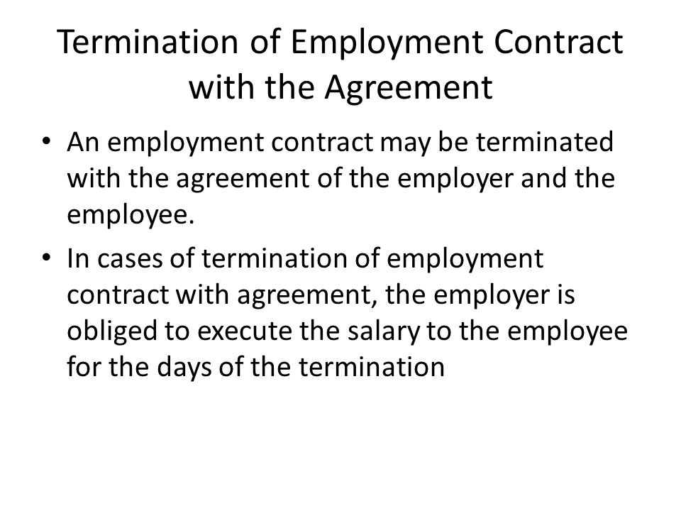 Termination Of Employment Relationship  Ppt Video Online Download