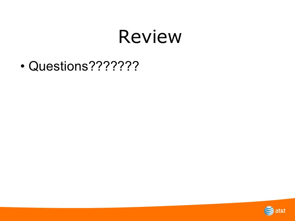 Review • Questions