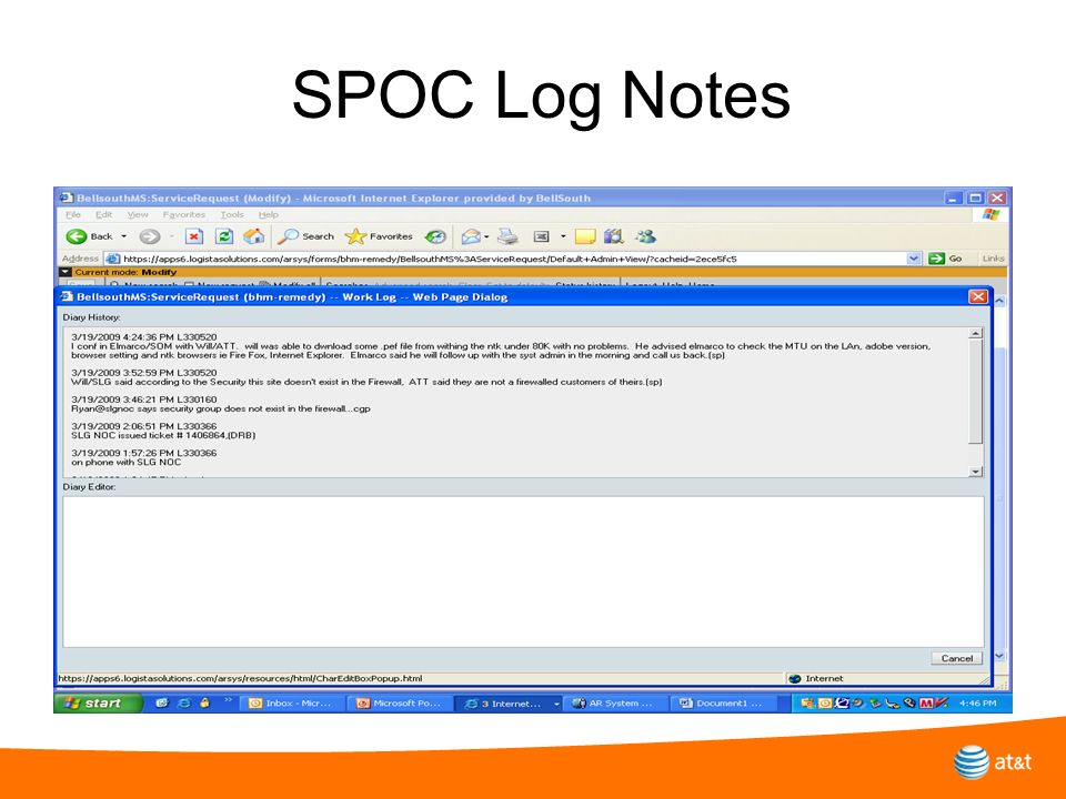 SPOC Log Notes Why do you need to turn in a trouble report…….