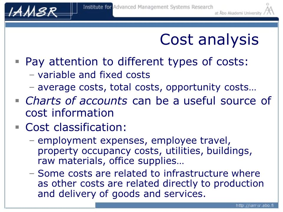 Type of cost classification
