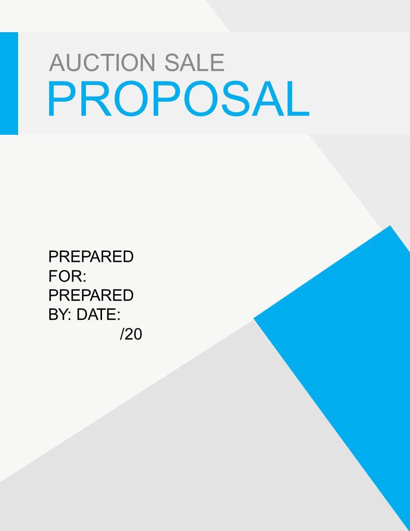 sale proposal