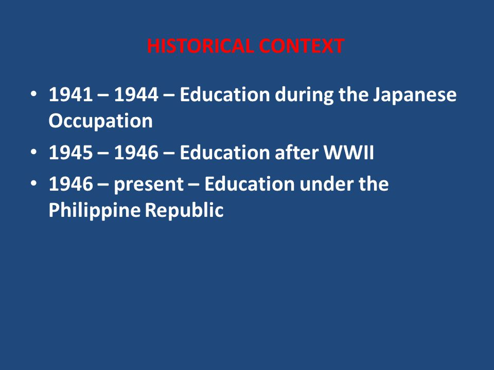 government system during the japanese occupation in the philippines Learn all about the formal education system in philippines american and japanese rule and occupation the most important and lasting contributions came during america's occupation of the country, which began in 1898.