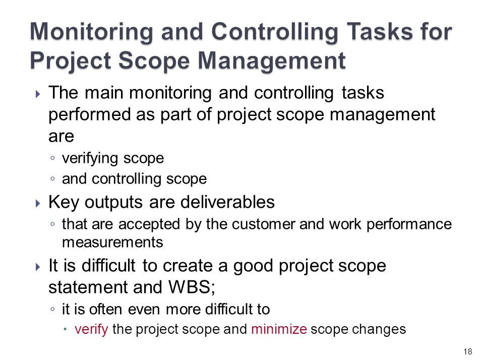 monitoring and controlling projects In multi-phase projects, the monitoring and controlling process group coordinates project phases in order to implement corrective or preventive actions to bring the.