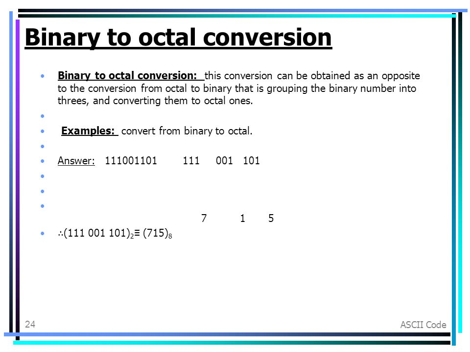 binary to octal conversion examples pdf