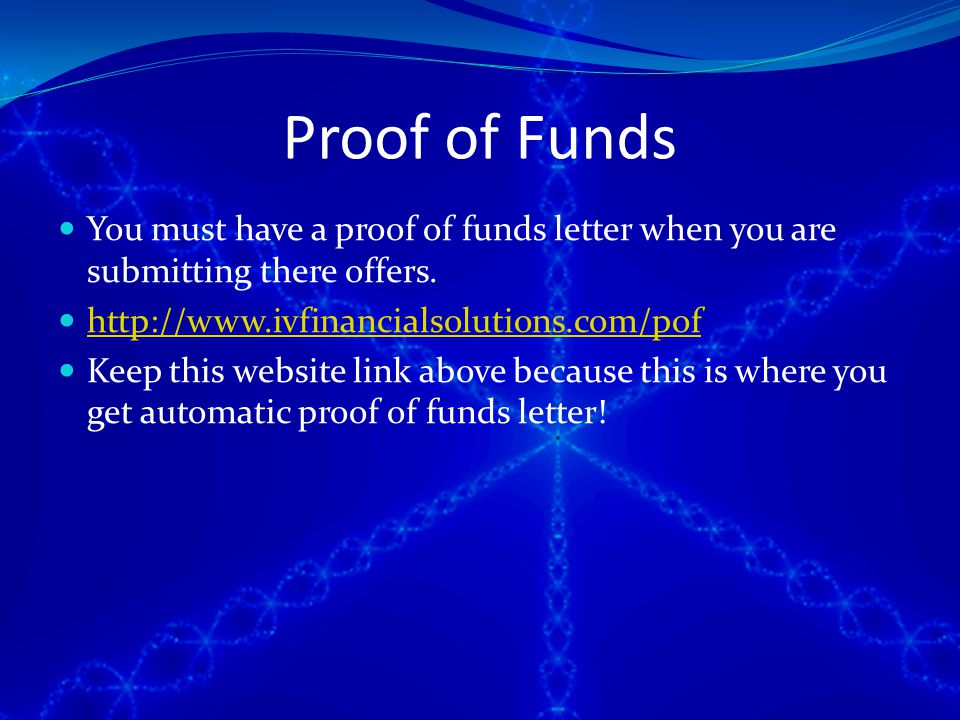 37 proof of funds