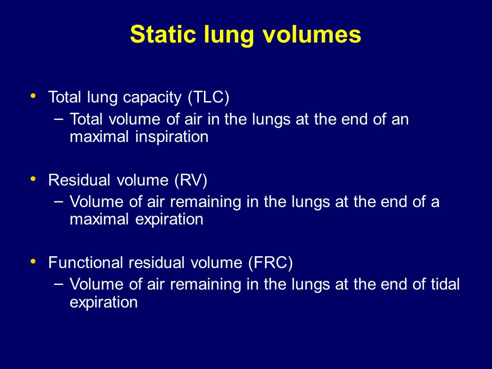 Rv Tlc Ratio In Restrictive Lung Disease Obstructive Lung