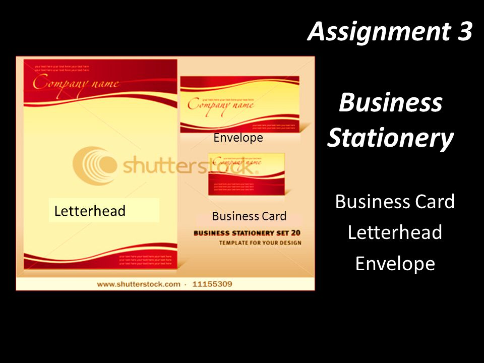 Assignment 3 business stationery ppt video online download assignment 3 business stationery flashek Choice Image