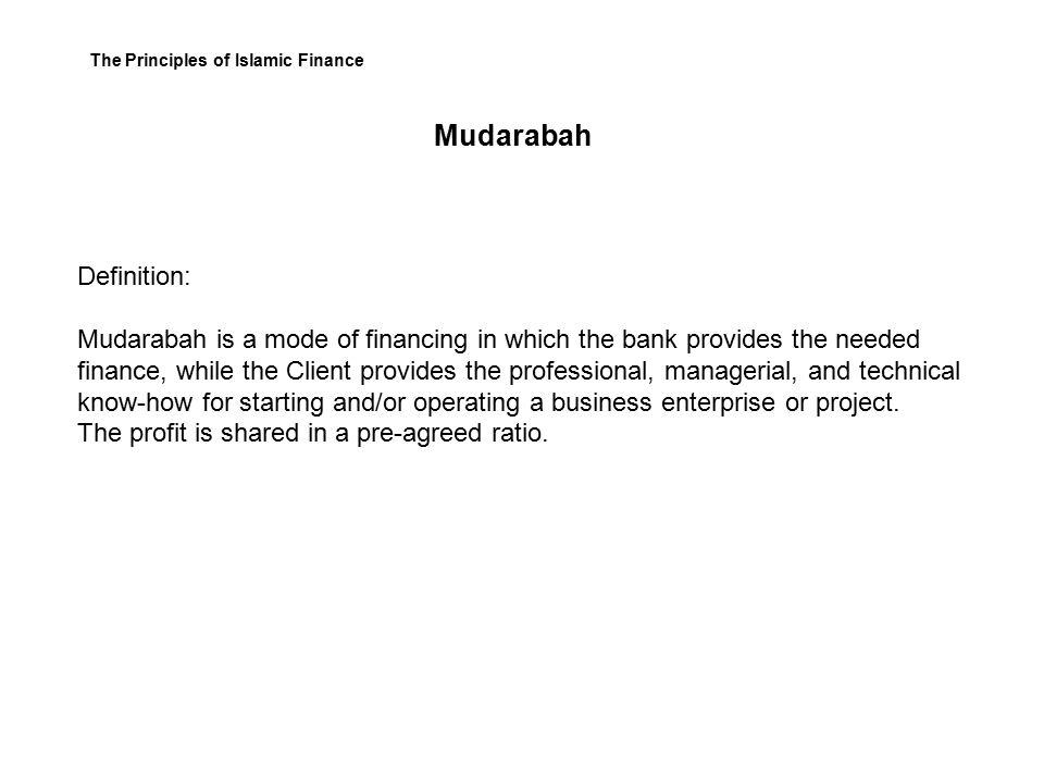 principles of musharakah and mudarabah 1 the main financial instruments profit and loss-sharing contracts – musharakah and mudarabah industry principles photo.