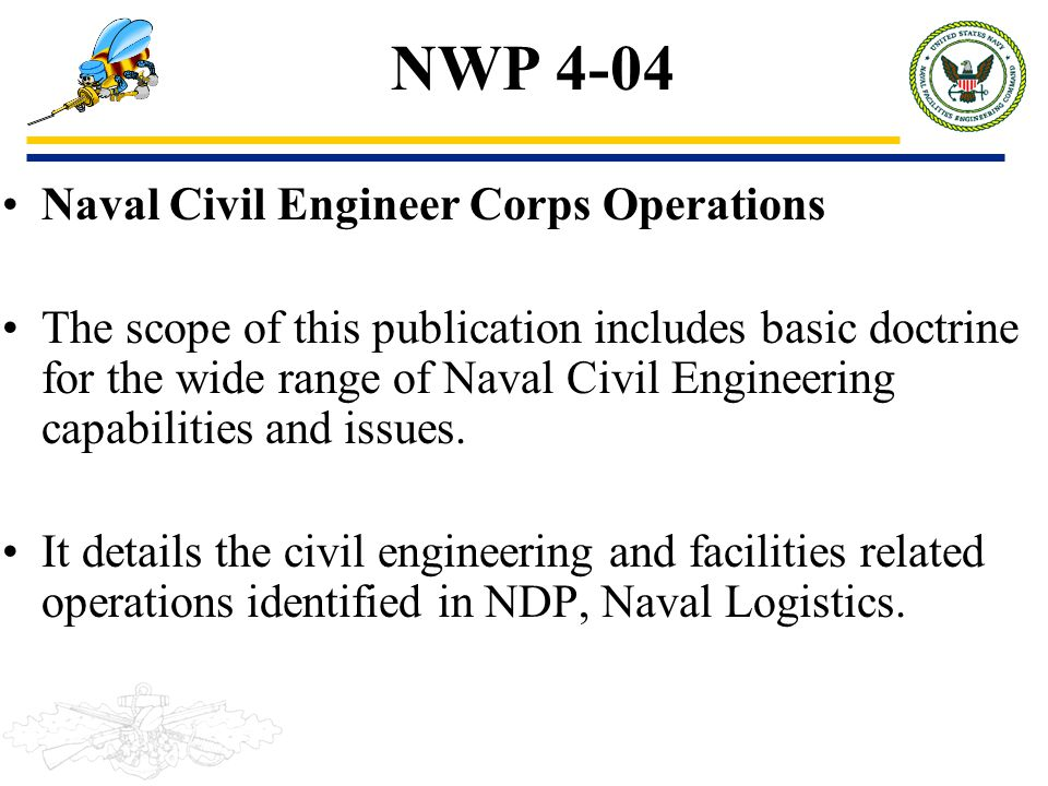 naval logistics doctrine Navy's authority for the development of naval concepts and integrating naval doctrine within the naval service and education reflects current naval doctrine the ndc ensures that operationss navy in the development of joint and combined doctrines.