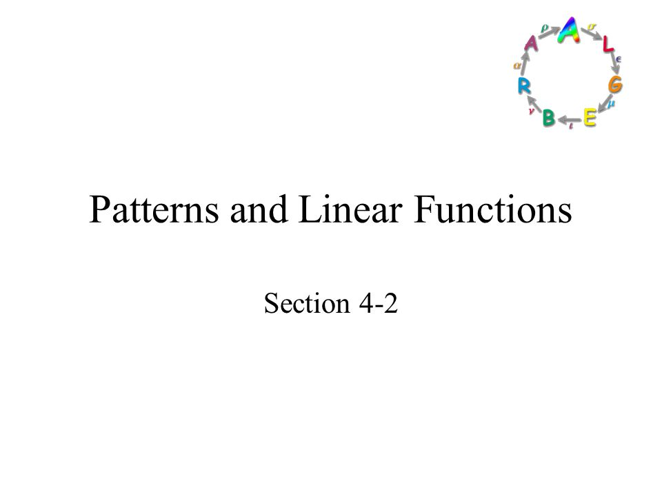 Patterns and Linear Functions ppt video online download – Patterns and Linear Functions Worksheet