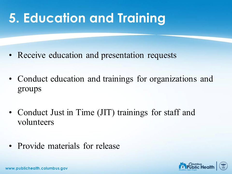5. Education and Training