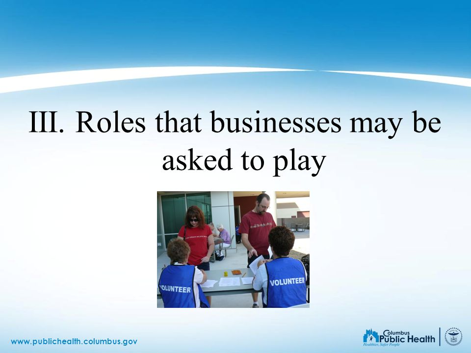 III. Roles that businesses may be asked to play